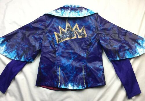 Disney Store Descendants 2 Evie Girls Sz 9 10 Faux Leather Moto Jacket -No Belt image 8