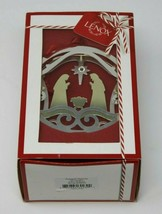 Lenox Stamped Metal Nativity Ornament #870955 - W/Box And Hanging Material - $28.49
