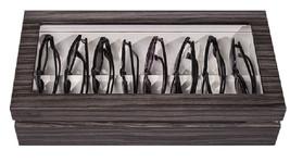 OYOBox Luxury Eye Wear Unisex Maxi Zebra Gray Lacquer Finish Wood Organi... - €241,74 EUR