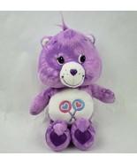 """Care Bears Share Bear 10"""" Plush Purple Tie Dye Lollipop Belly Stuffed An... - $12.60"""