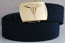 "US Army Medical Corps Blue Belt (width 1.25"") and Buckle - $15.83"