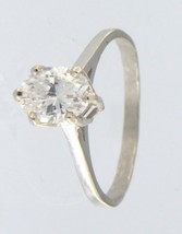 Women's 14kt White Gold Solitaire ring - $199.00