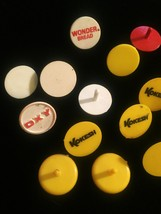 Lot of 22 vintage colorful plastic Golf Ball Markers image 5