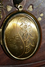 Vintage Gold Plated Pendant Locket with the Chain - $46.31