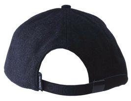 Official Crown Black Luxury Brushed Wool Stato Dorada Strapback Baseball Hat NWT image 4