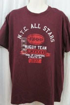 Izod Mens Casual Shirt Sz XL Rusty Gate Red Short Sleeve Graphic Tee Cas... - $14.27