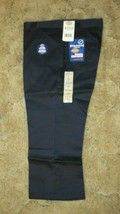 "DICKIES Girls Jr Navy Uniform Capri Sz 13 Boot Cut Waist 37"" x Inseam 22""  - $14.80"