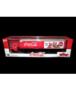 Coca-Cola M2 Machines Car Carrier Truck 1:64 with 1956 Ford F100 Inside NEW - $35.64
