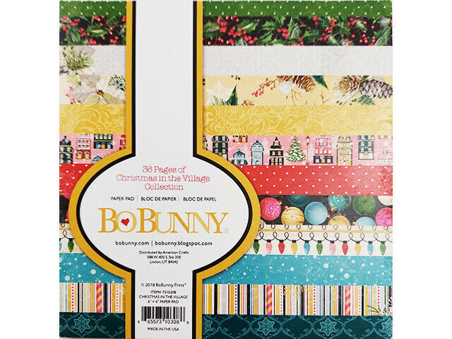 """BoBunny Christmas in the Village Collection, 6x6"""" #7310308"""