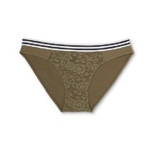Xhilaration Womens Bikini Riverweed Lace Panties Size L 11-13 NWT - $7.91