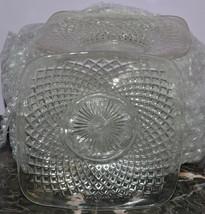 "Westmoreland Glassware English Hobnail Crystal Set of 8 5"" Square Plates - $29.02"
