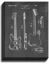Clarence Fender Precision Bass Patent Print Chalkboard on Canvas - $39.95+