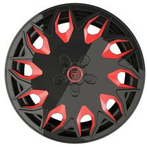4 GV06 20 inch Staggered Black Red Mill Rims fits FORD MUSTANG V6 2015 - 2020 - $849.99