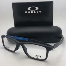 New OAKLEY Eyeglasses GAUGE 7.1 OX8112-0454 54-18 136 Satin Black Blue & Pewter - $199.99