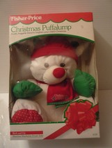 1991 FISHER PRICE PUFFALUMP CHRISTMAS STUFFED BEAR 8128 NEW IN BOX - $85.00