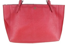 Tory Burch York Buckle Tote Handbag Shoulder Bag  in Red New - $183.99