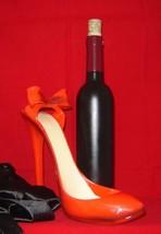 Red Stiletto Shoe Wine Bottle Holder Polyresin image 2