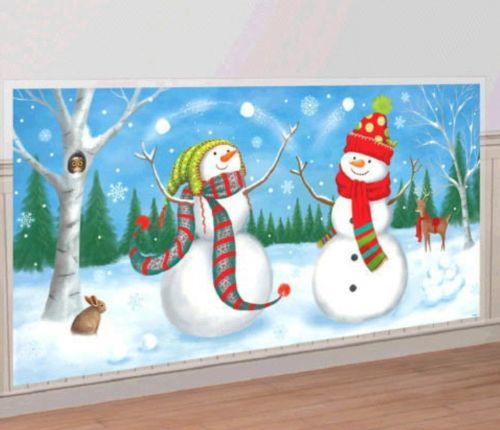 Snowman Scene Setters Add Ons Wall Decoration Kit