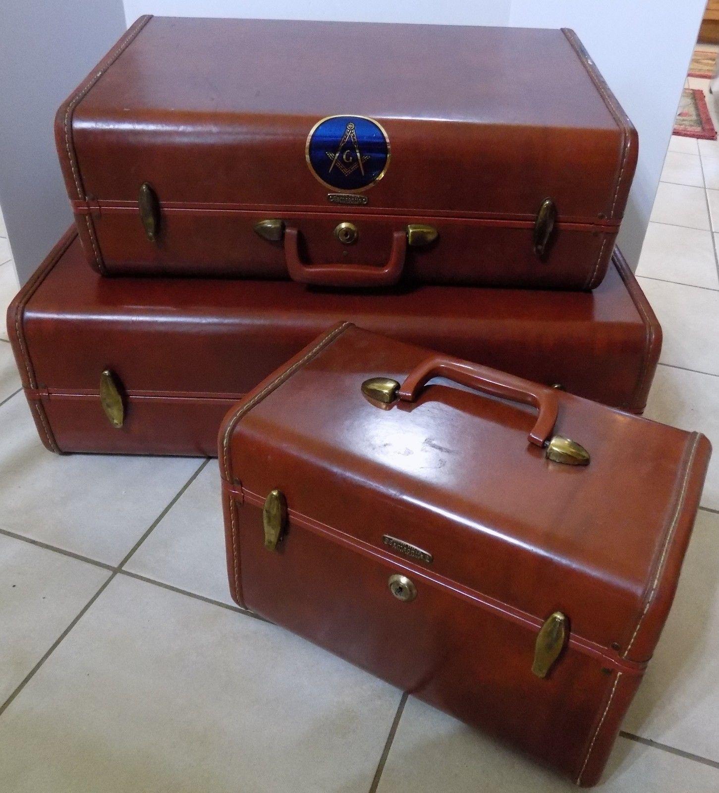 "Vitg Samsonite Shwayder Bros 20"" Hardcase Suitcase Home Decor End Table Night st"