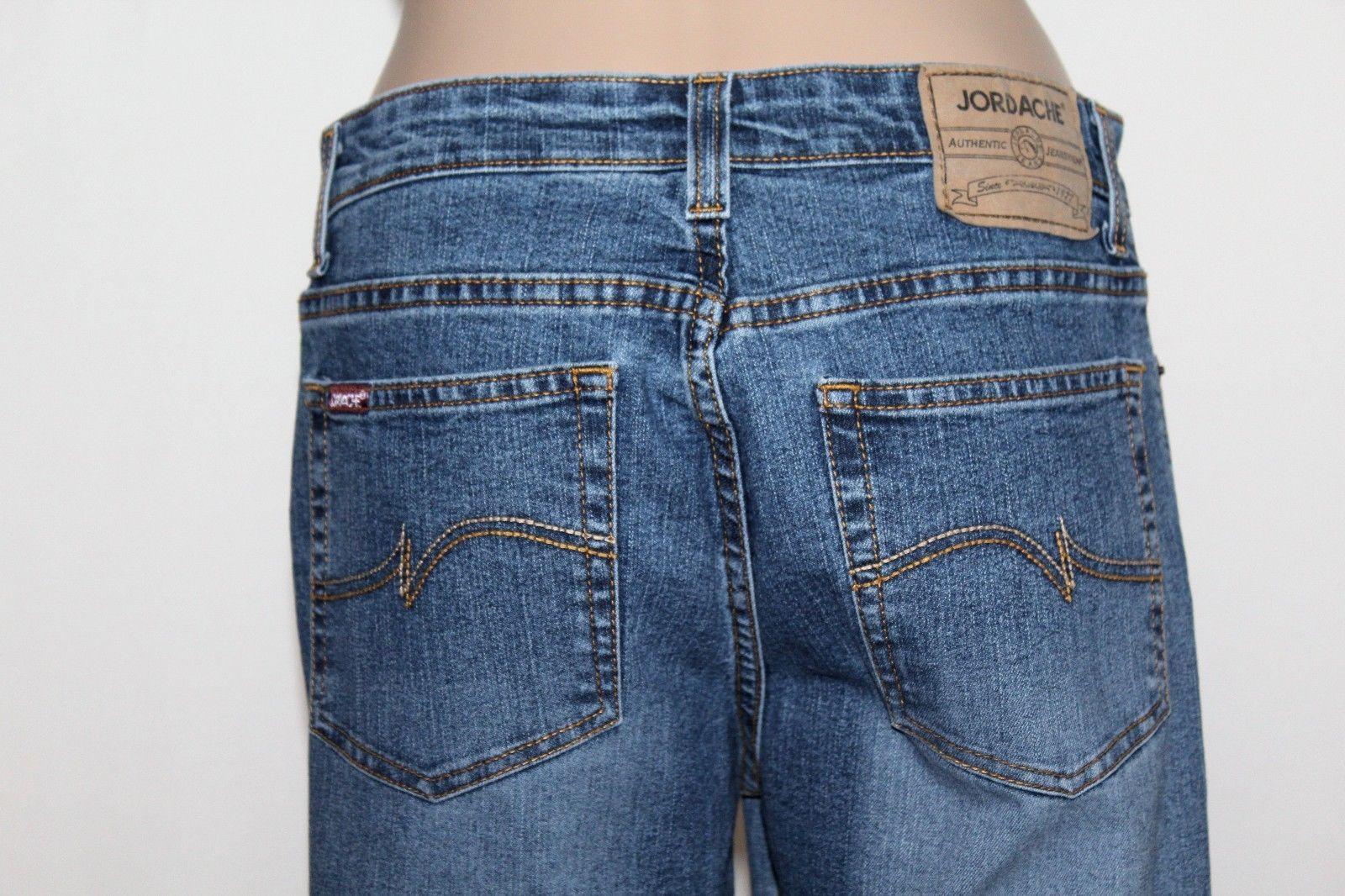 "JORDACHE Women's Size 9/10 Long Lo-Rise Bootcut Stretch Denim Jeans 34"" Inseam"