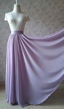 Women High Waisted Maxi Chiffon Skirt Summer Wedding Chiffon Skirts Many Colors image 3