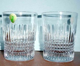 Waterford Giftology Lismore Diamond Tall Tumbler DOF Pair 12 oz #4001605... - $159.90