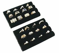 Black Velvet Ring Tray Display Jewelry Organizer Holder Watch Display Tr... - $12.88+