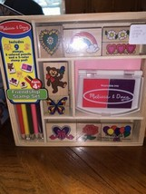 Melissa And Doug Friendship Kids Wooden Craft Girl Gift Color Pencils Pad NEW - $9.99