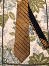 "Bold Sharp Gold Navy Stripe Tommy Hilfiger Neck Tie 59"" - $14.24"