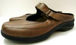 Merrell Topo Clutch Womens Sz 7 Deer Tan Leather Mary Jane Mule Slides S... - $74.24