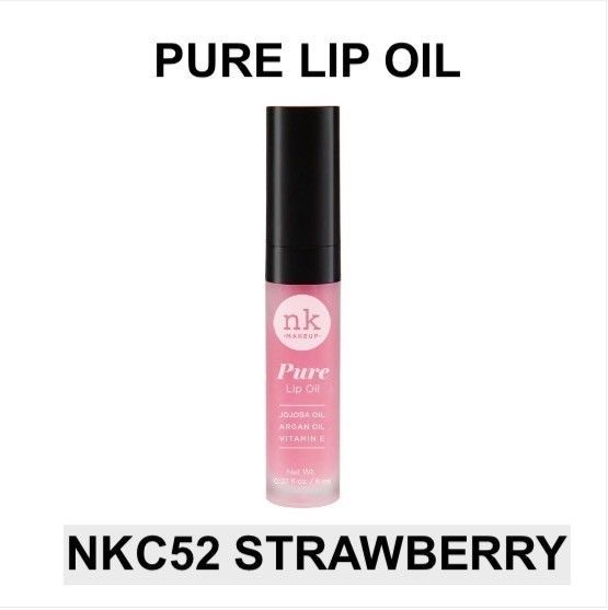 Primary image for NICKA K NEW YORK PURE LIP OIL NKC52 STRAWBERRY HYDRATING LIP WITH ARGAN OIL