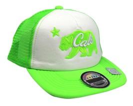 NEW UNISEX BASEBALL HAT CAP ADJUSTABLE SNAPBACK SWAG CALI BEAR GREEN ONE SIZE image 2