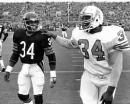 Walter Payton Bears Earl Campbell Oilers CTK Vintage 32X40 BW Football P... - $45.95