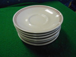 Vintage Set of 6 HOMER LAUGHLIN Best CHINA Saucers..Made in  .USA - $13.57