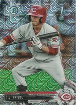 2017 BOWMAN CHROME MEGA BOX MOJO REFRACRTOR BCP71 T.J. FRIEDL RC REDS - $1.99