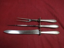 """Virginia by Gorham Sterling Silver Roast Carving Set 3pc HH with Stainless 14"""" - $221.45"""