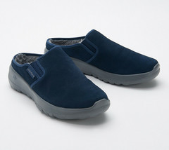 Skechers GOWalk Joy Women's Water-Repellent Suede Clogs Snuggly Navy 9 M - $34.64