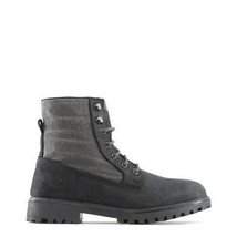 Mens Winter Lace Up Ankle Boots Shoes Lumberjack - RIVER Black Genuine L... - $73.02