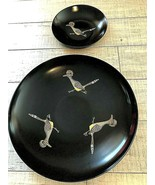 "Couroc of Monterey Road Runner Collectible Bowls 13"" &  7 3/4"", Vintage ... - $29.99"