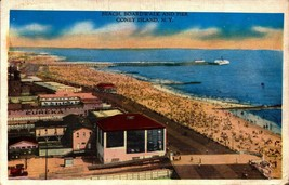 VINTAGE POSTCARD- BEACH, BOARDWALK & PIER, CONEY ISLAND, NY BK21 - $3.43
