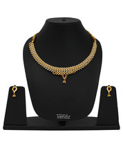 Womens Trendz Traditional, Ethnic and Antique 24K Gold Plated  Necklace and Earr - $39.00