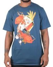 LRG Hombre Azul Náutica Gills Y Granos Oro Peces Liquor Bebible Camiseta Nwt image 2