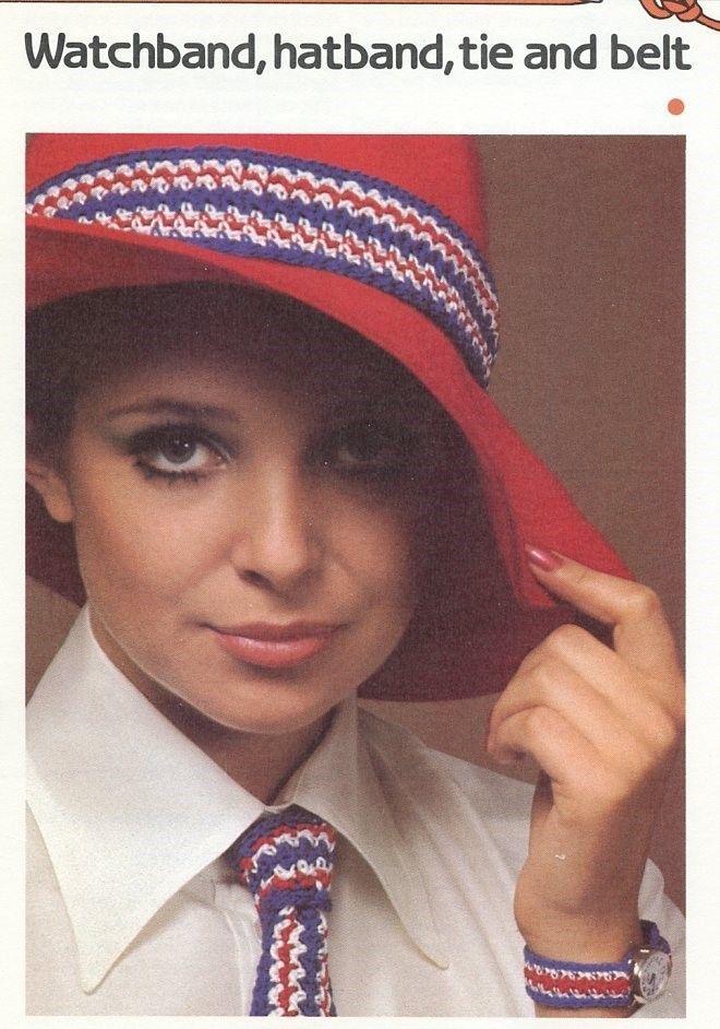 Watchband Hatband Tie and Belt Cavendish Crochet PATTERN/Instructions NEW