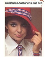 Watchband Hatband Tie and Belt Cavendish Crochet PATTERN/Instructions NEW - $0.90