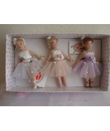 Assorted Set of 3 Full Body Porcelain Miniature  Delton Doll ~ Ornament NIB - $24.95