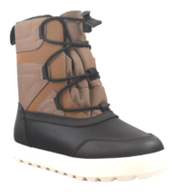 Cat & Jack Boys' Black Brown Ivan Thermolite Zippered Winter Boots NWT image 1