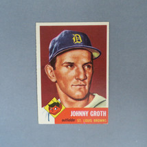 Johnny Groth Baseball Card, Vintage 1953 Topps #36, St. Louis Browns Baseball Ca - $18.00