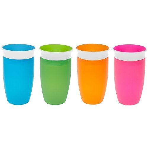 Munchkin Miracle 360 Sippy Cup, Green/Blue, 10 Ounce, 2 Count & Munchkin Miracle