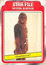 1980 Topps Star Wars #5 Star File Chewbacca > Peter Mayhew > J - $0.99