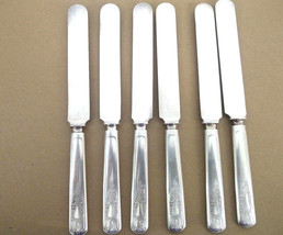 1847 Rogers Bros Warranted 16 DWT Round Top Silverplated Dinner Knives ~ 6 - $12.16